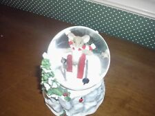 """Charming Tails-5.5"""" Mouse On Skies Led Water Globe-New In Box-2018"""