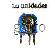 10 Potenciometro Vertical 500 Ohm 1/2 W  Resistencia Variable ajustable