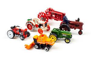 Lot of Assorted Minatare Die-Cast Tractors - Hallmark, ERTL, Etc.