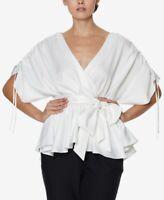 Inspr X Natalie Women's Ruffle Wrap Top, White, Size XL, $65, NwT