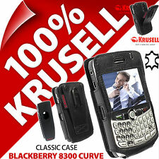 Krusell cas classique en cuir véritable housse + clip ceinture pour BlackBerry 8300 Curve