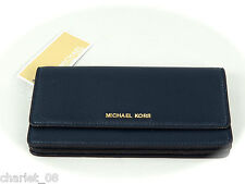 ~ MICHAEL KORS ~ PORTEMONNAIE / GELDBÖRSE LG  WALLET LEATHER  ~ NAVY