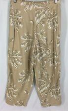 Globe Trotter Clothing Of Bali Multi Color Capri Pants 100% Rayon Womens L