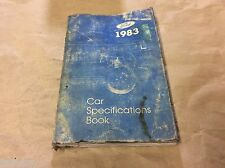 FORD 1983 CAR SPECIFICATIONS BOOK