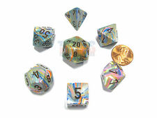 Polyhedral 7-Die Festive Chessex Dice Set - Vibrant with Brown Numbers