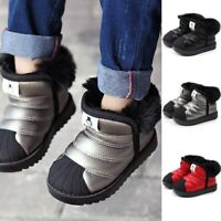 Winter Toddler Infant Kids Snow Boots Waterproof Baby Boys Girls Warm Soft Shoes