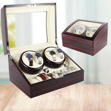 4+6 Grids Automatic Luxury Wood Watch Winder Display Box Organizer Storage Case