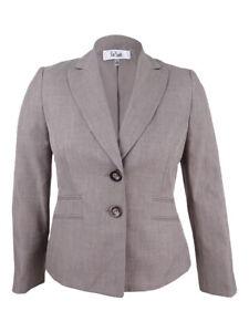 Le Suit Women's Four-Pocket Jacket 10, Mocha