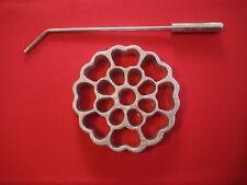 Mexican Rustic Aluminum Bunuelera Rosette Iron molde para hacer bunuelos viento