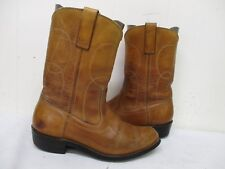 Distressed Brown Leather Vintage Cowboy Boots Mens Size 7 D Style 4347 USA