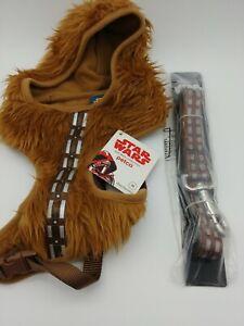 STAR WARS CHEWBACCA PetCo Dog Hoodie Harness & Leash Halloween Costume Set NEW