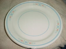 CORELLE NEEDLEPOINT DINNER PLATES 10.25 INCH x 4 GENTLY USED FREE USA SHIPPING