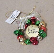 "Christmas Tree Ornaments Bells Wreath Ganz 2"" You Choose Many Sayings 178K"