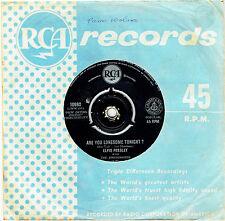 "ELVIS PRESLEY - ARE YOU LONESOME TONIGHT? - 7"" 45 VINYL RECORD - 1960"