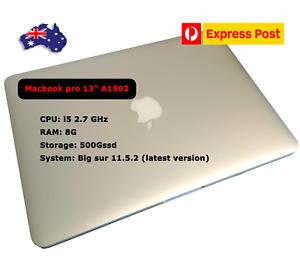 """Apple MacBook pro 13""""  Laptop, A1502, i5  DDR3 8G 500GSSD, 2013, sliver"""