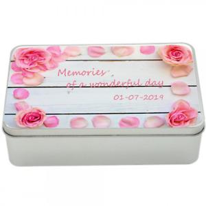 Memories tin, keepsakes, storage, remember, happy days, wedding, anniversary