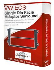 VW EOS stereo radio Facia Fascia adapter panel plate trim Double CD space