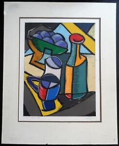 """ORIGINAL  PAINTING TITLED """"CUBIST EPIC III"""" ARTIST SIGNED"""