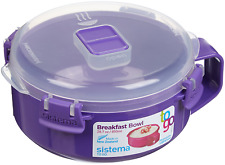 Microwave Breakfast Bowl BPA-Free 28.7 oz Steam Release Sistema Color May Vary