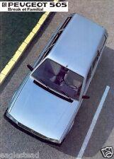 Auto Brochure - Peugeot - 505 Break et Familial - 1984 - Francais (AB452)