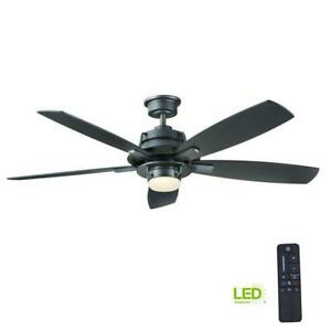 Home Decorators Montpelier 56 in. LED Indoor Natural Iron Ceiling Fan