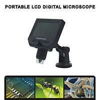 "Digital Microscope 4.3"" HD LED 3.6MP 1-600X Magnifier G600 Portable LCD 1080P"