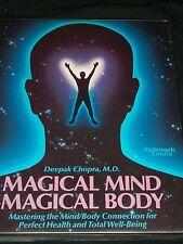 AJ Magical Mind Body Deepok Chopra Cassette Set Audio Books Tape Nightingale