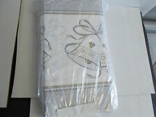 "2 Wedding Anniversary Table Covers.  Each is 54"" x 102"". Platinum Proposal NJ2-3"