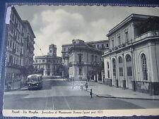 1951 CARTOLINA VOMERO FUNICOLARE MONTESANTO VIA MORGHEN FILOBUS ANIMATA NAPOLI
