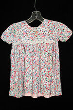 RARE FRENCH 1930'S-1940'S GIRLS FLORAL PRINT COTTON DRESS SIZE 2-3