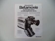 advertising Pubblicità 1984 SONY BETAMOVIE