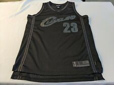 Reebok Exclusive Edition LeBron James Cavaliers Jersey L Stitched Black 23 GUC