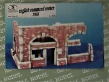 ROYAL MODEL 005 - ENGLISH COMMAND CENTER RUIN - 1/35 CERAMIC RESIN KIT