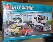 Sluban Building Blocks City Scene Truck Transporter 638 PC New