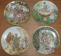 Set Of 4 Alice In Wonderland Plates (Limoges, Georges Boyer, Sandy Nightingale)