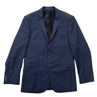 BEN SHERMAN Men's Navy Check Wool Two Button Blazer Jacket Size 38 in Chest