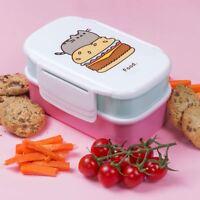 Pusheen - Lunch Box Set Microwave Bento Box Cute Kawaii Kids Pink Cat Girl Gifts