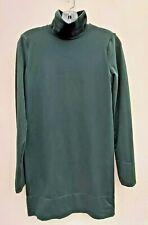 WOLFORD BOTTLE GREEN STRETCH BODYCON TURTLE NECK MINI DRESS UK 12-14 FREE UK P&P