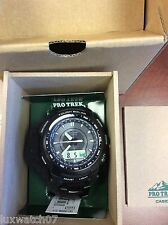 CASIO PROTREK TITANIUM ALTI THERMO COMPASS ATOMIC SOLAR WATCH PRW5100YT-1