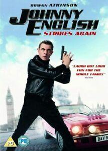 Johnny English Strikes Again Dvd Rowan Atkinson Brand New & Factory Sealed