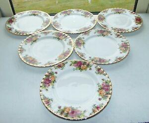 Royal Albert Fine Bone China Old Country Roses 6 x Dessert Plates 21cm