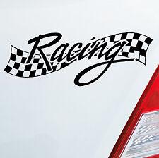 Auto Motorrad Aufkleber RACING Flag Rennen Tuning Fun Sticker DUB OEM JDM 596