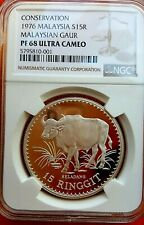 Malaysia 1976 15 Ringgit Silver Coin Proof NGC 68 Ultra Cameo Rare!!!