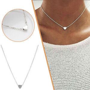 New Fashion Women Jewelry Chain Choker Heart Pendant Statement Necklace