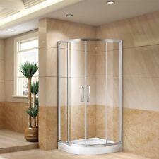 Quadrant Shower Enclosure Room Toughen Tempered Glass Sliding Doors Bathroom DE