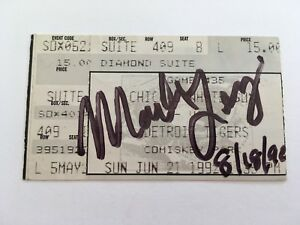 Marv Levy Signed 1992 White Sox Tigers Autograph Ticket Stub Buffalo Bills Coach