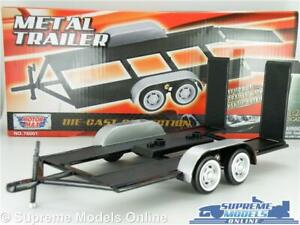 CAR VEHICLE TRAILER MODEL 1:24 SCALE FLAT BED MOTORMAX 4 WHEEL FOLD DOWN RAMPS K