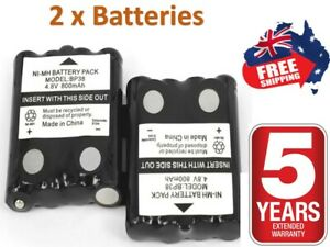 2x For UNIDEN BP38 BP40 UHF HANDHELD RADIO REPLACEMENT BATTERY + 5 Year WARRANTY