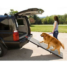 Pet Gear Full Size Tri Fold Dog Ramp Travel Assists Dog Mobility - RTS
