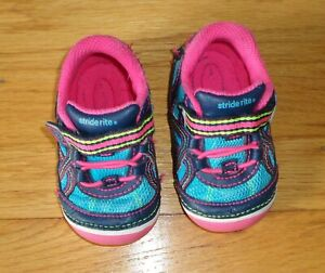 Stride Rite Baby Girl Shoes Size 4 W Multi Color Bristol Mary Jane